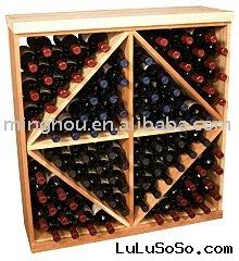 96 Bottle cabiinet & cube wooden wine cellar kit