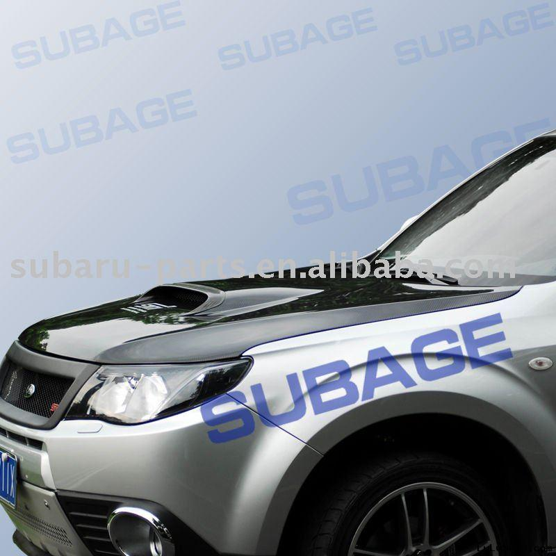 Carbon fiber car Bonne with scoop for SUBARU Forester 2009 year
