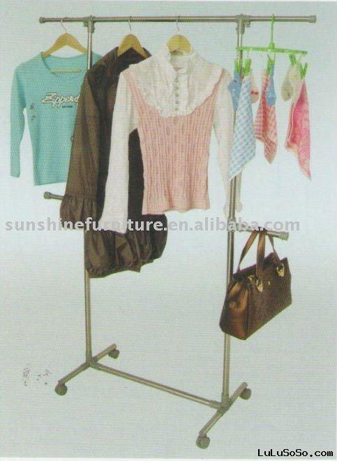 Clothes hanging drying rack