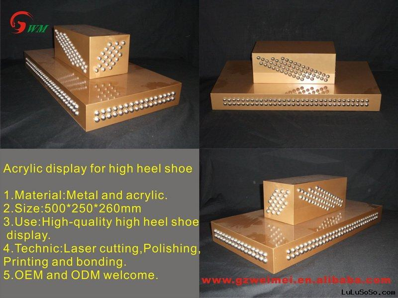 Hot sale Acrylic Shoe stand with elegant design