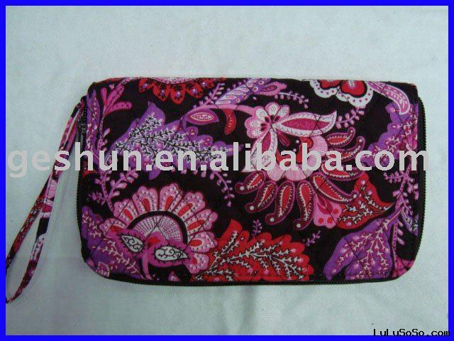 Hot sale women's canvas purses,New design lady wallets,Printed flower purses