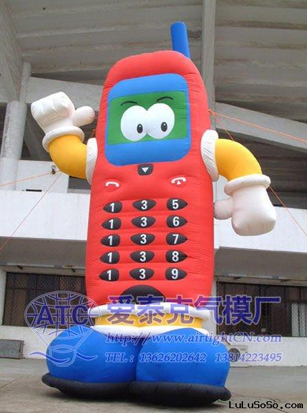 Inflatable mobile phone cartoon