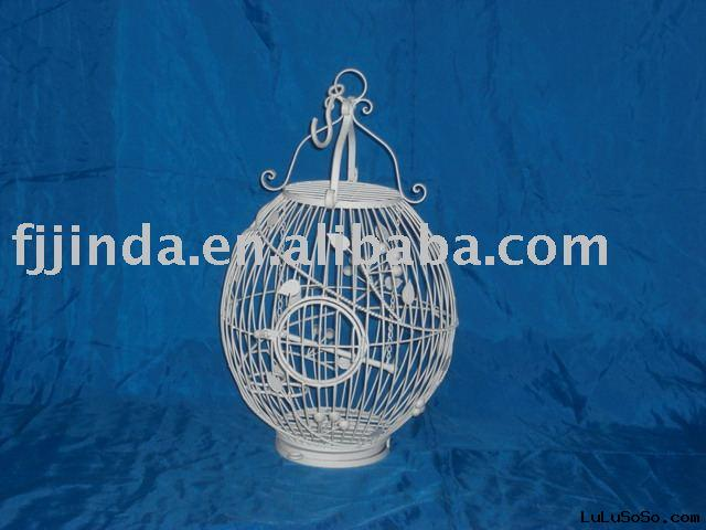 Iron wire hanging bird cage;metal bird feeder;decorative garden bird house