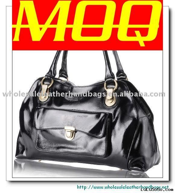 Ladies Handbags,Designer Leather Handbags,Wholesale Handbags-Black New York Leather Handbag