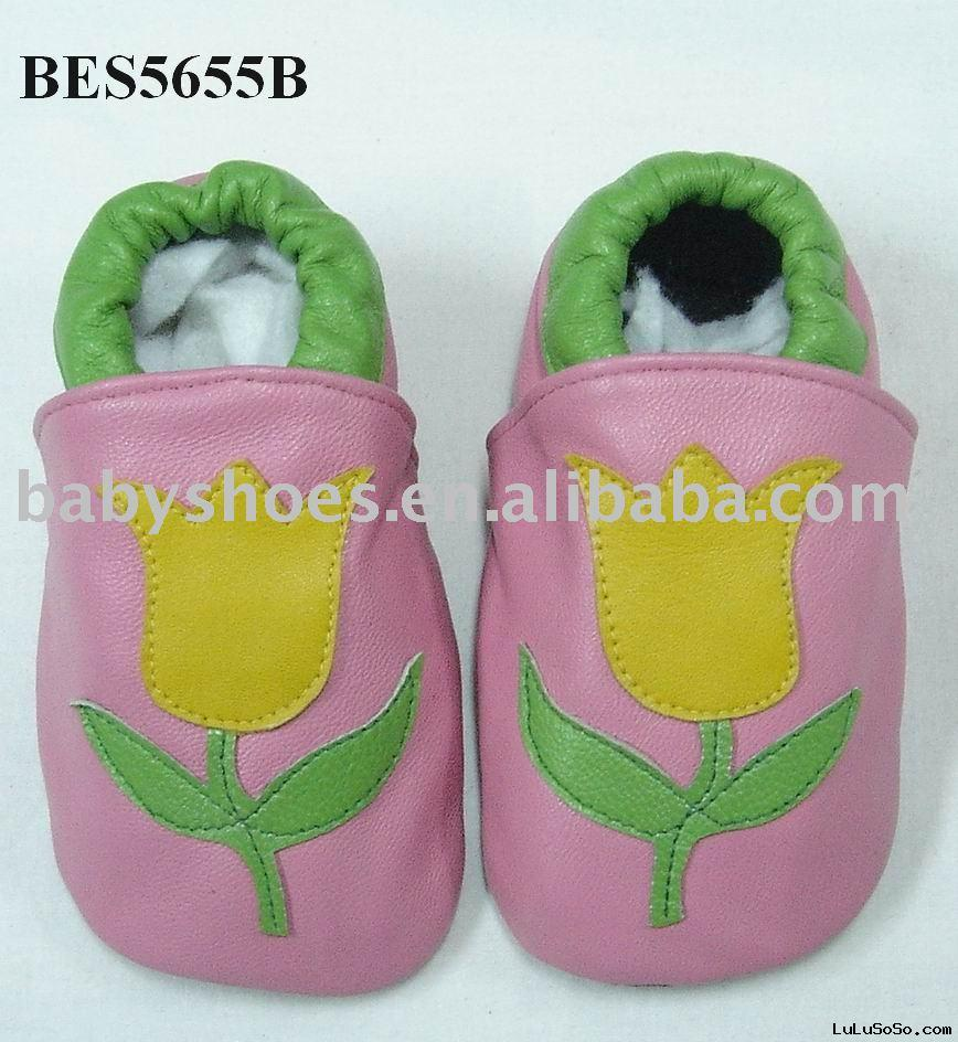 Leather Baby Slipper