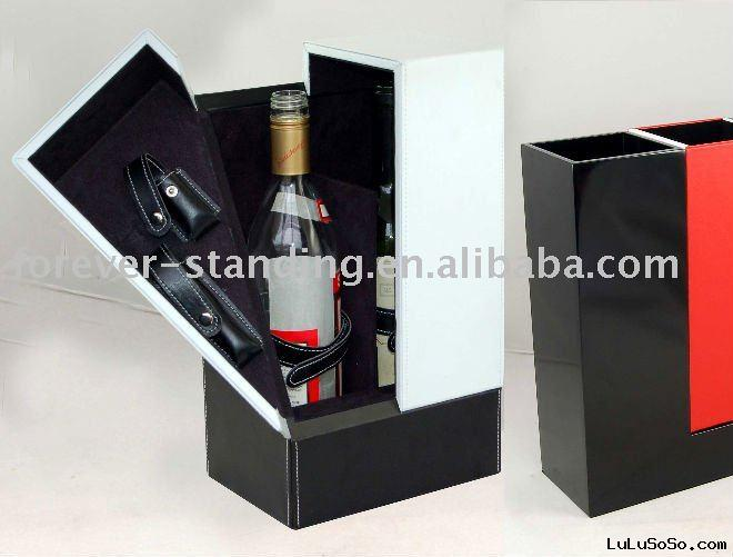 Leather Wine gifts kit