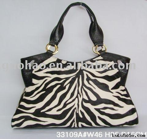 NWT name brand designer handbag purse,fashion zebra print handbags CRHB-03