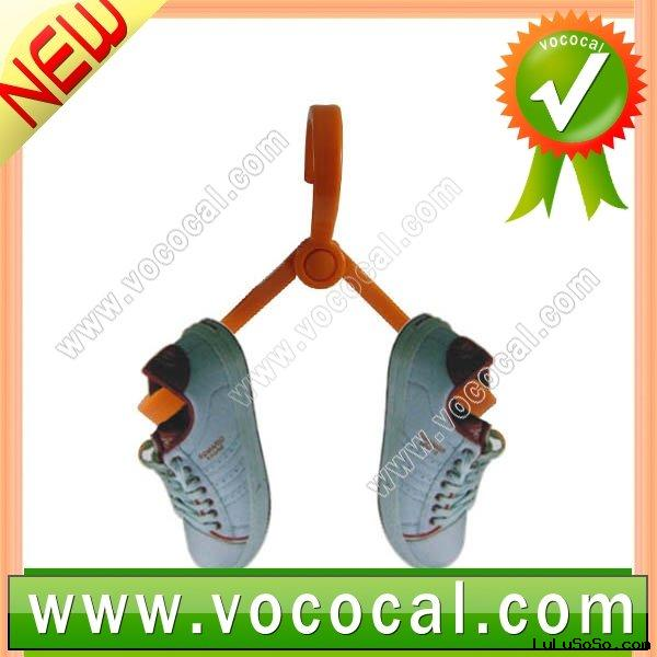 Orange Plastic Flexible Dry Shoes Hanger Shelf Hook Rack Practical Tool