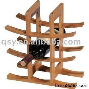 QSY910 bamboo  wine  rack