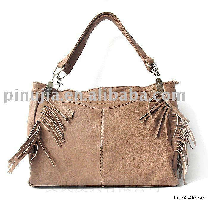 Stylish women Real leather handbag with Tassels100912