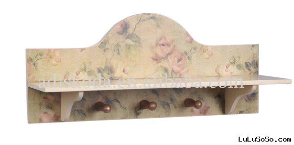 Wood Craft Clothes Hook(22-038 Rose)