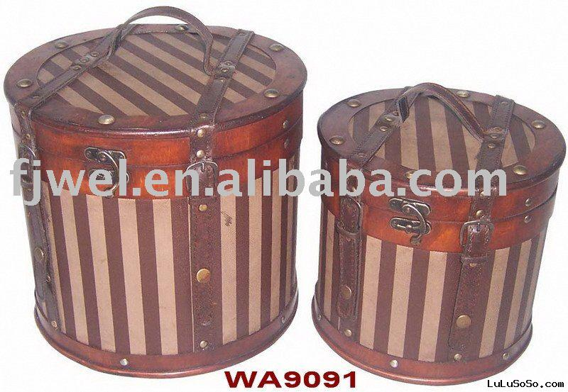 hat box(Wooden hat box)