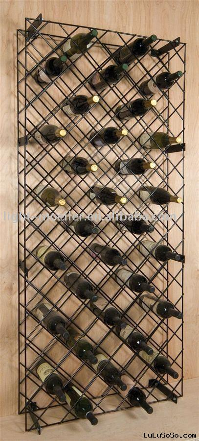 iron wall wine rack
