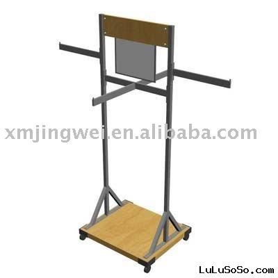 metal clothes hanger stand