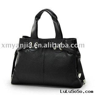 original black designer leather handbag