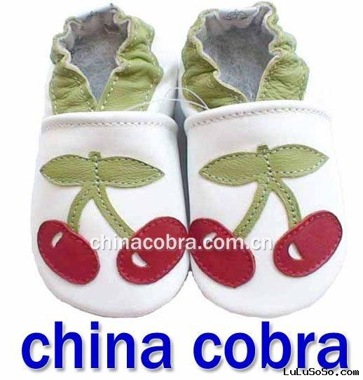 soft baby leather slippers