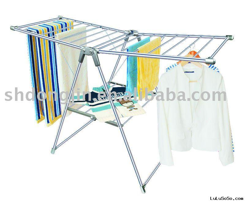 stainless steel oval pipe collapsible drying rack