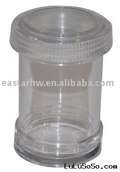 transparent plastic spice bottle