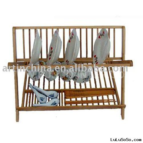 wooden dish rack/dish drainer/wooden plate rack