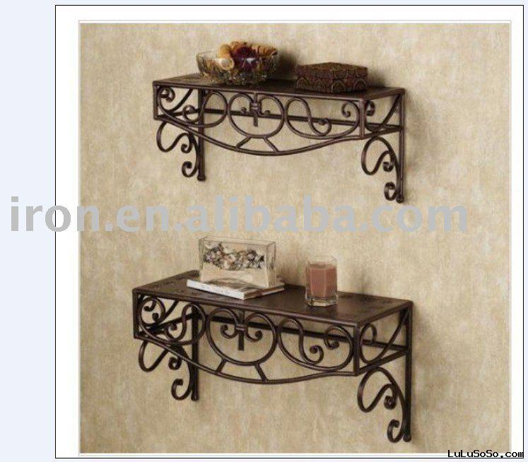 wrought iron wall shelf