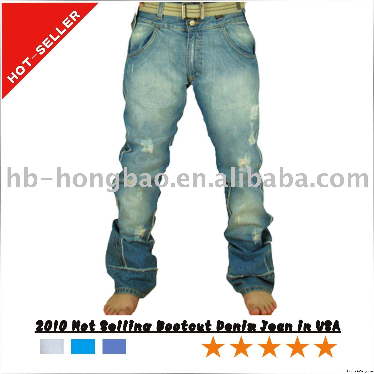 2010 Hot selling Bootcut Denim Pant in USA