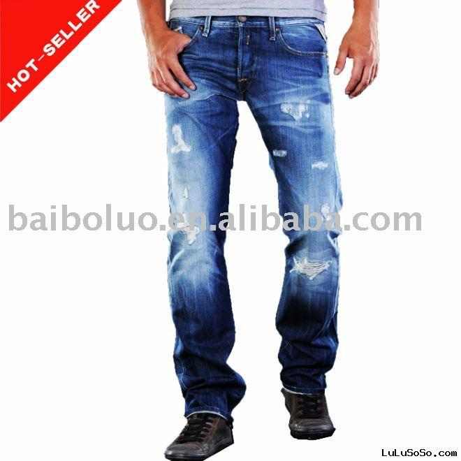 2011 New Developed Men Jean Pants(100% Cotton)