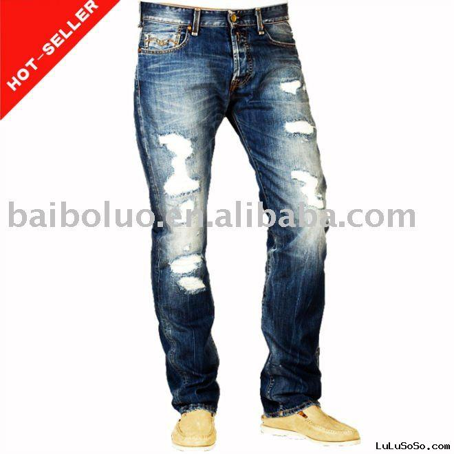 "34"" Straight Leg New Fashion Denim Jeans in 2011"