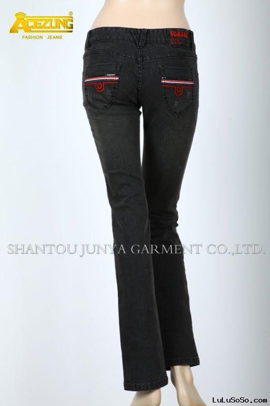 Acezung name brand jeans CX0092B1 for women -jeans factory