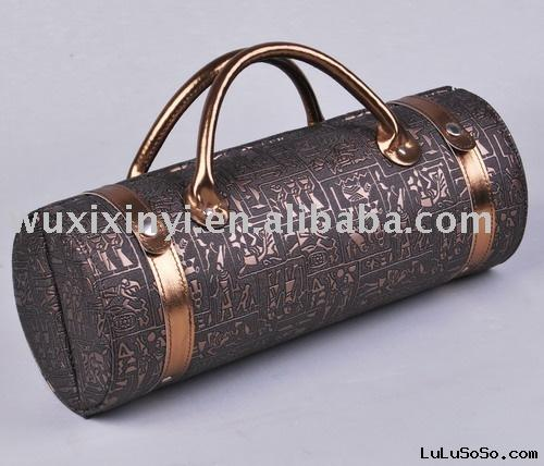 Faux Leather Bottle Wine Case