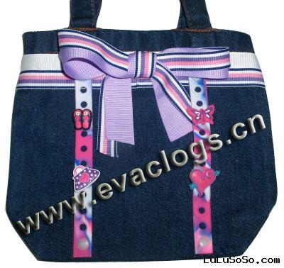 Jean Bag With Clog Charms