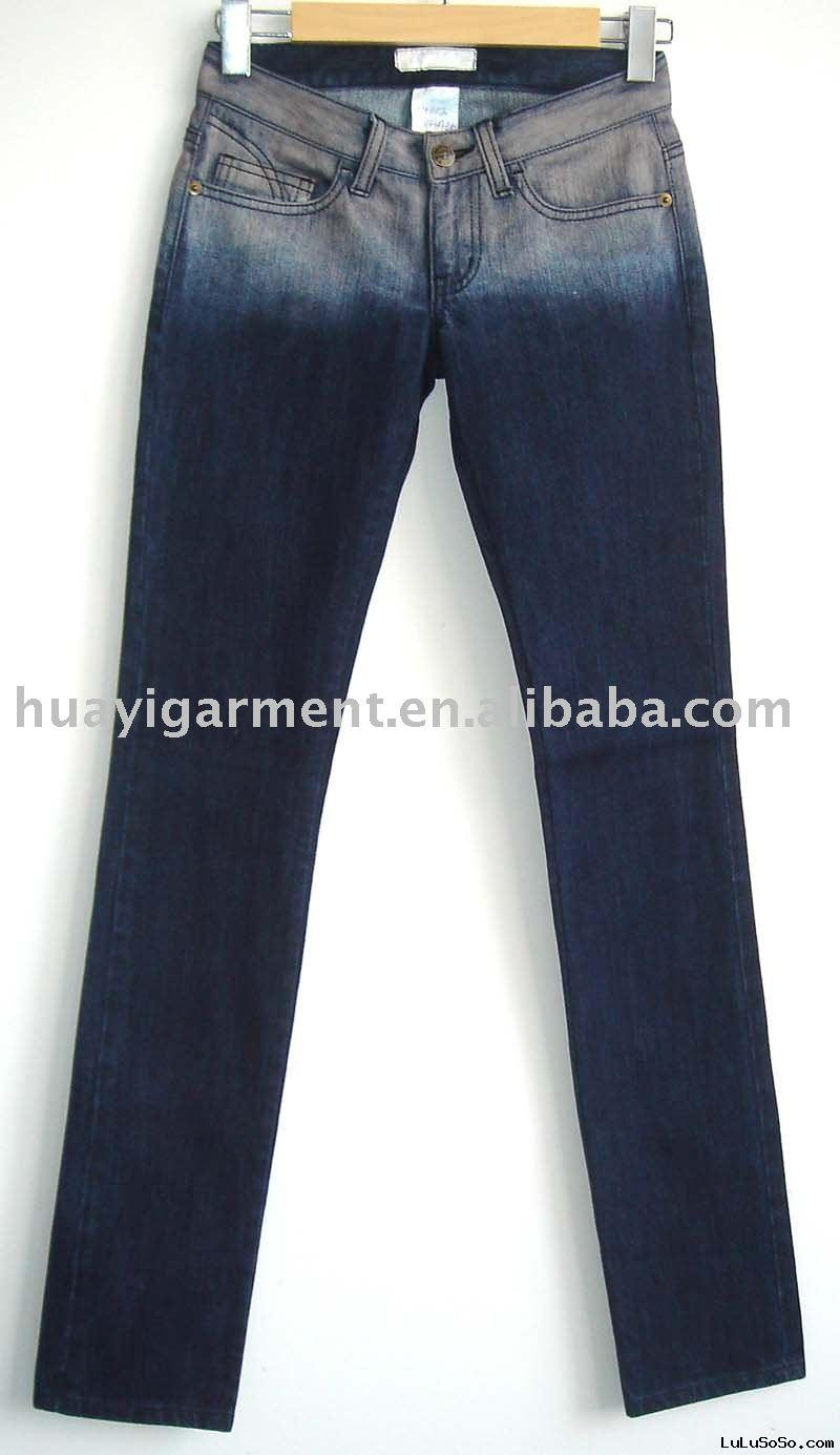 Ladies' fashion cotton twill denim pants