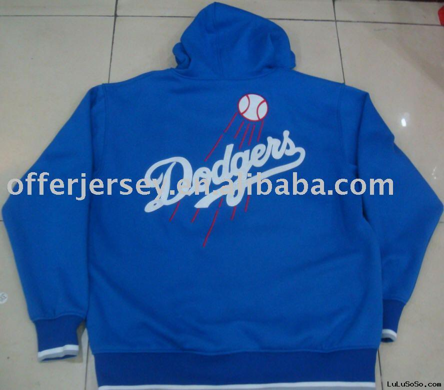 New Top Quality! HOT! Los Angeles Dodgers  HOODED FULL ZIP JACKET SEWN LARGE-XXXL