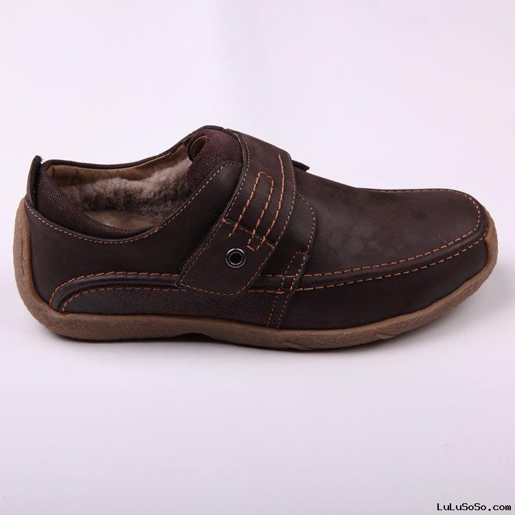 Sheepskin shoe mens fashion