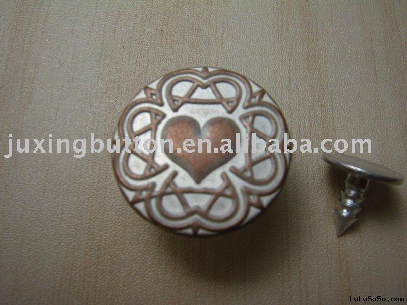 Jeans Buttons Suppliers Brass Jeans Button