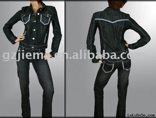 casual lady jeans suits