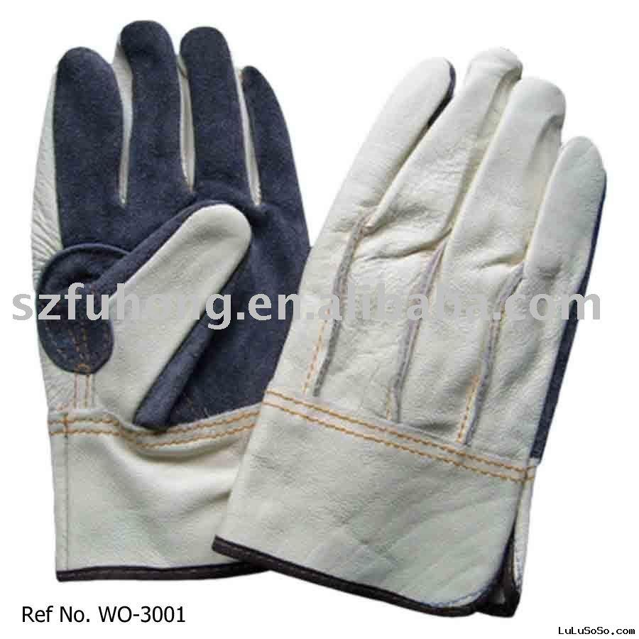 grain pigskin working gloves
