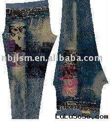 jeans style plain clothes printing