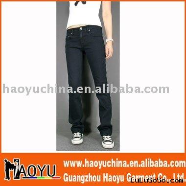2011 hot sell new style fashion black jeans(HY5101)
