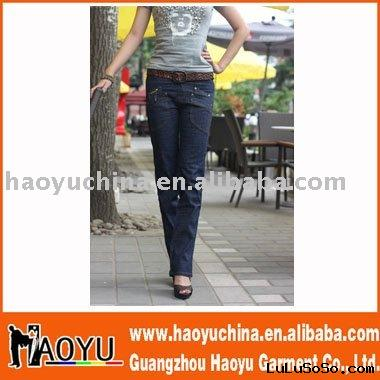 2011 hot sell new style fashion maternity jeans(HY5134)