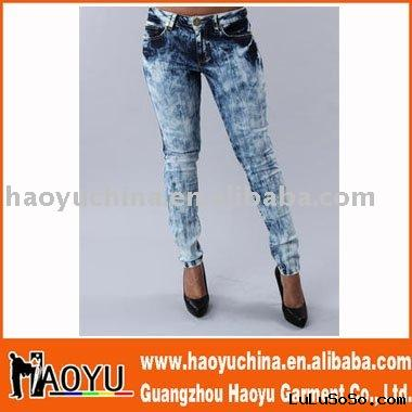 2011 new design hot sell women jeans (HY5000)