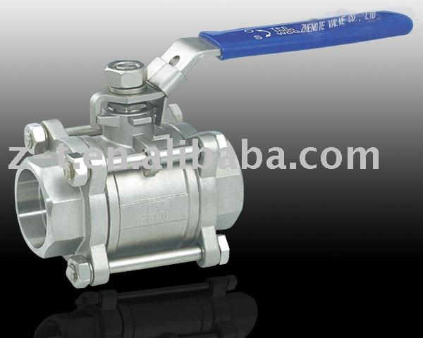3PC Stainless Steel Socket Welding Ball Valve, with locking device, CE Approved
