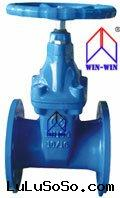 AWWA C509 Resilient Wedge Gate Valve Non-Rising Stem  Hand Wheel Operation