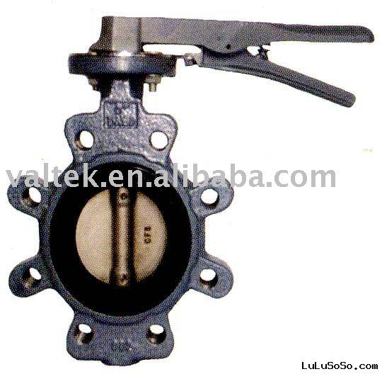 Cast steel Iron Lugged Butterfly Valve