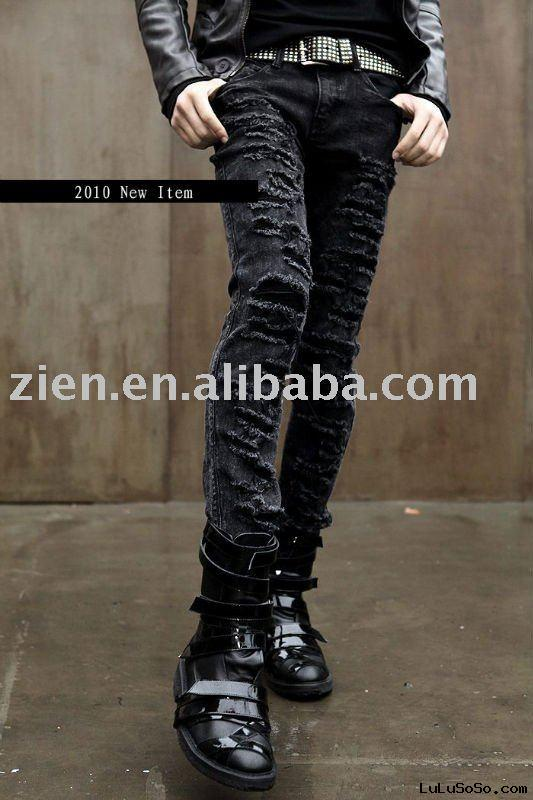Damaged Skinny Men's Jeans