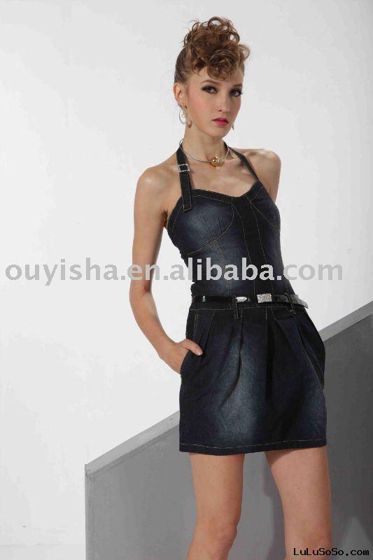 Ladies jean fashion Dress from 2011 summer