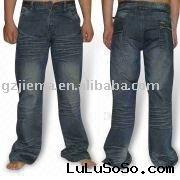 Men's Simple Style And High-class Fashion Jeans with Nice Wrikles and Big Back Pockets