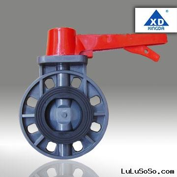 PVC butterfly valve handle lever type FD40