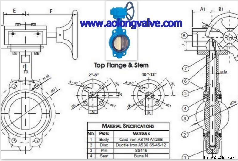 Sell Butterfly Valve Wafer Style Gear Operator