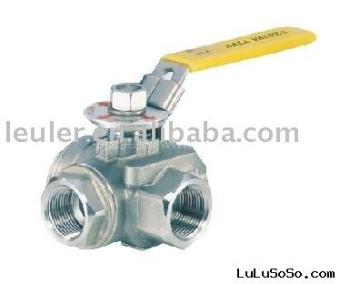 Stainless Steel 3 way T type Ball Valve
