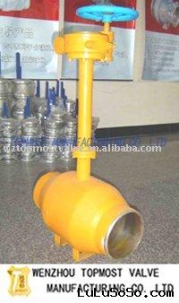 Stem extension District heating full welded underground ball valve